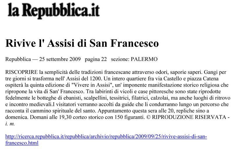 La Repubblica_25 settembre 2009